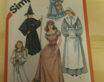 Womens Pilgrim, Angel, Milk Maid, Witch, Pioneer 18 20 Simplicity 5741