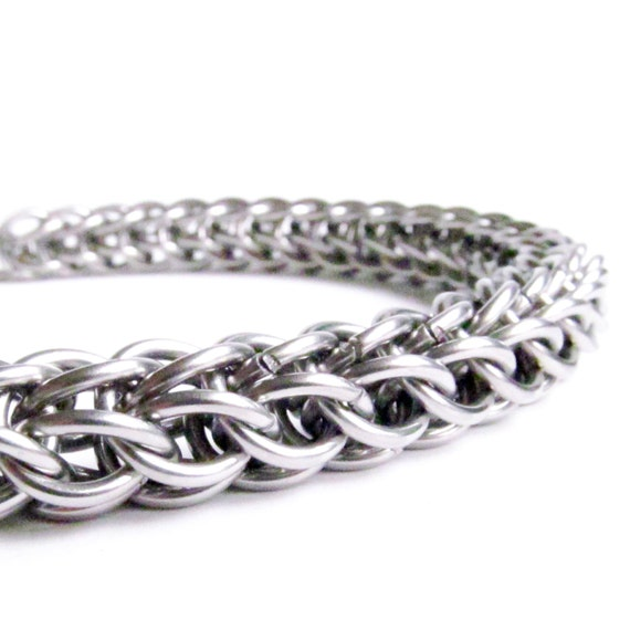 Chainmaille Bracelet - Persian Chain - Stainless Steel Jewelry