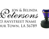 Self inking custom Personalized Return address Name rubber stamp R200