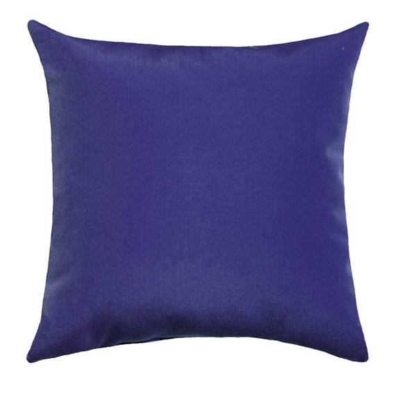 Throw Pillows Us : Admiral Blue Outdoor STUFFED Pillow Decorative Throw Pillow