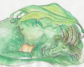 Sleeping Dragon -Original painting