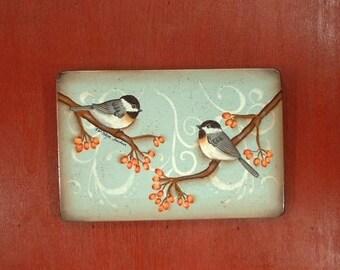 Two Chicadee Birds Decorative Art 143