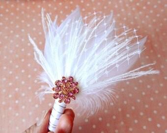 Groom's boutonniere pink wedding boutonniere groom's lapel pin men boutineer wedding pin pink groom luxury wedding