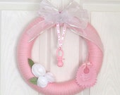 Its A Girl Wreath Baby Announcement or Pink Baby Shower Decoration