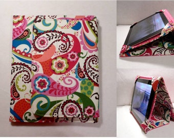 iPad Cover Hardcover, iPad Case, iPad Mini Cover, iPad Mini Case, iPad Air Case, iPad 2, iPad 3, iPad 4, iPad 5 , Pink Paisley