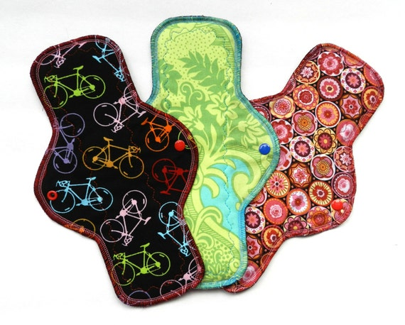 "Cycle Love<br> Set of 3, 12"" Heavy Flow Pads"