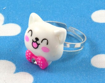 Kawaii Kitty Cat Ring Adjustable