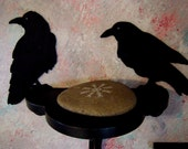 Odin's Ravens - Huginn and Muninn - Hand Cut Silhouettes