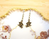 Halloween Witch on a Broomstick Earrings