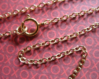 "Gold Filled Necklace Chain, 16 17 18 20 22 24 30 32 36"", Finished Cable Chain, 1.7 mm,  gf17.17 g17.24 gf17.30 gf17.36 gf17.32 gf17.22"