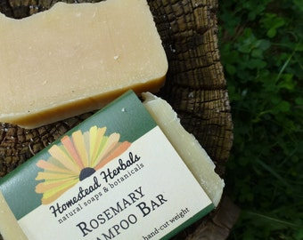 Rosemary Shampoo Soap Bar / Eco Shampoo Bar / Natural Shampoo / / best for darker hair