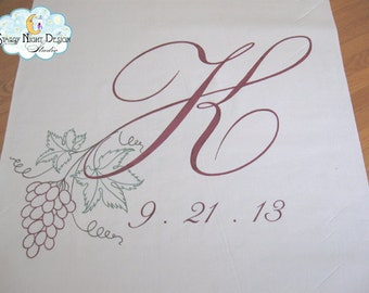 Fall Aisle Runner, Fall Wedding Aisle runner with Hand Drawn Artwork on Quality Fabric that Won't Rip or Tear