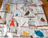 medium wetbag - diaper bag - limited edition print - birdcage