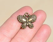 5 Antique Bronze Butterfly Charms BC1968