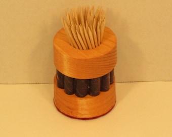 Toothpick Holder Round Handmade