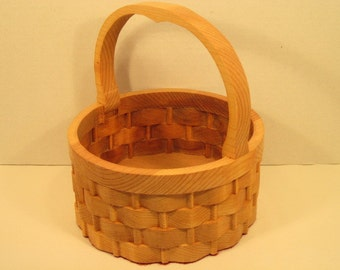 Round Basket Large with Handle Handmade