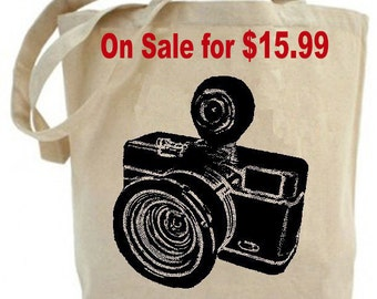 Vintage Camera - Eco Friendly Canvas Tote Bag