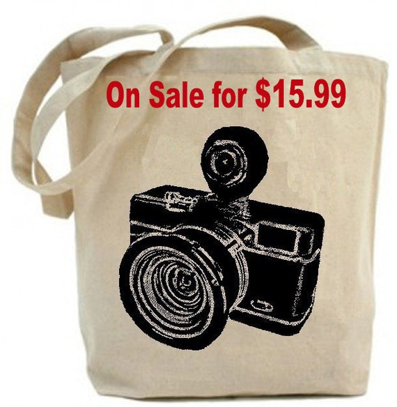 Vintage Camera - Eco Friendly Canvas Tote Bag