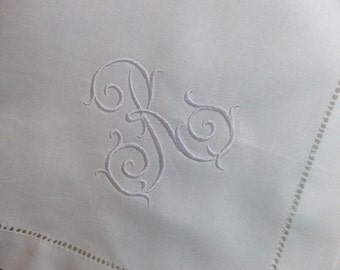 Custom Embroidered Monogram NAPKINS - Other colors and Monograms Available - Thanksgiving - Christmas - Wedding