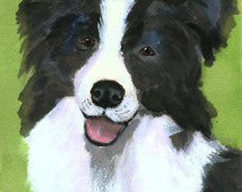 Border Collie Dog Art Print Mary Jo Zorad