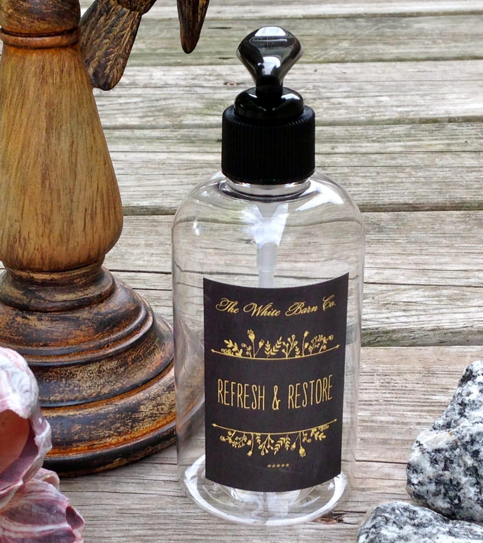 Decorative soap dispenser bottles guest bath by thewhitebarnco for Bathroom bottles