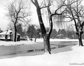 Park Snow Scene - Greenwich, Ct, Binney Park Photo in Snow