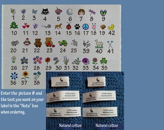 Custom Crochet labels for Amigurumi and other stuffed animals and dolls-Tiny Loop Labels