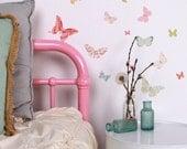 Mini Fabric Wall Decal - Butterflies (reusable) NO PVC