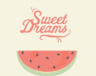 Archival Print - Sweet Dreams (A4 or A3 218gsm textured paper)