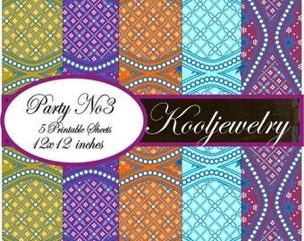 Party No. 3 digital paper pack - No.152