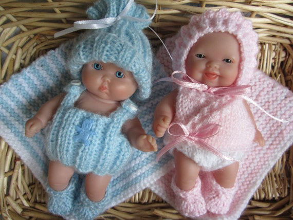 Knitting Pattern Berenguer Baby Doll Newborn Starter Sets Boy