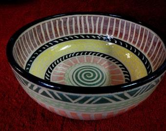 Southwestern Stoneware Decorative Bowl