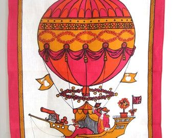 Vintage Towel Hot Air Balloon Pamela Kay