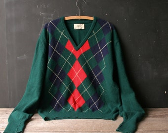 Men's Wool Sweater Argile Lord Jeff Made in Ireland and Scotland From Nowvintage on Etsy