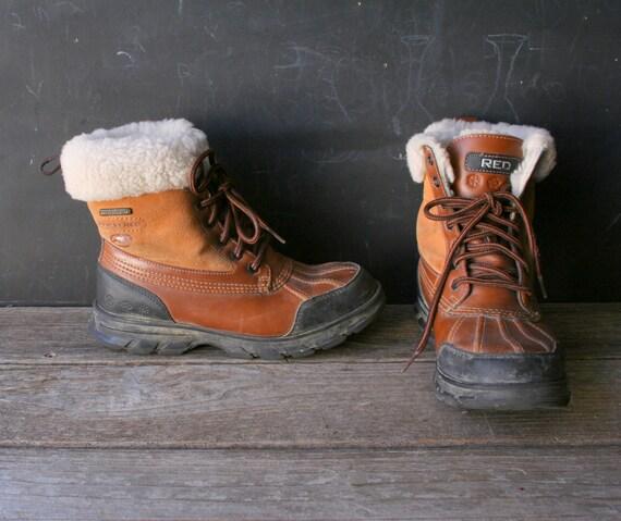 Womens fur duck boots
