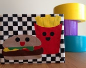 Happy Meal Duct Tape Wallet - Checkerboard Bifold