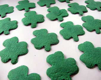 Plantable Seed Paper St. Patrick's Day Baby Shower Favor - Irish Wedding Favor