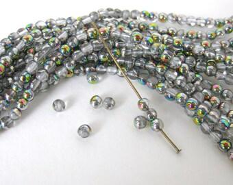 Vintage Beads Vitrail Czech Glass Rounds 4mm vgb0749 (50)