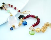 Gold Bracelet Gemstone Bracelet Tassel Jewelry