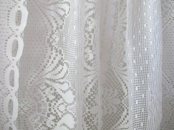 Sears Lace Cafe Curtains Rod Pocket Lace Drapery Window