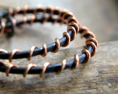 Hoops, copper earrings, hammered texture, rustic earrings, rustic jewelry, black patina - Chaos Theory