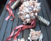Made to Order Custom Details Bridal Bouquet of Shells (Sandy Sugar Style). Made to Order Custom Details