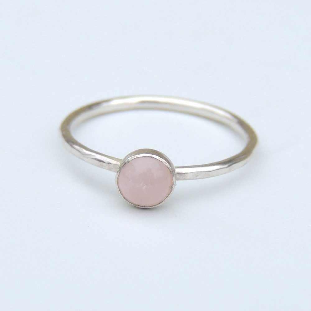 Rose Quartz Ring Size