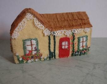 Miniature Felt Cottage