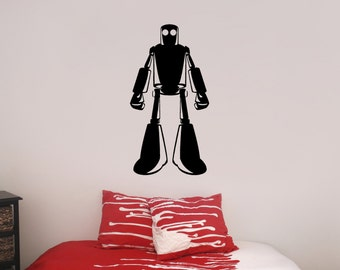 Robot Vinyl Wall Decal, Android, Machine, Robo Cop, Mechanical, Bionic, Humanoid