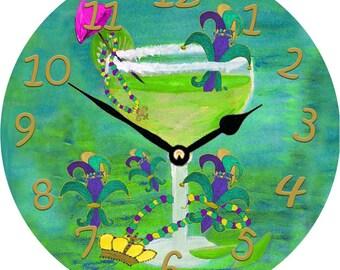 Margarita Fleur de lis Wall Clock