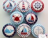 NAUTICAL Knobs Handmade Drawer Pull Harper Regatta Jackson Kids Decor boys sailboat sea ocean  SO CUTE - Pinksugarcouture