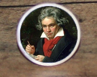 BEETHOVEN Tie tack or Cuff links or Ring or Pendant or Brooch