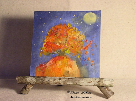 Title: Autumn on the Mountain Medium: oil on panel