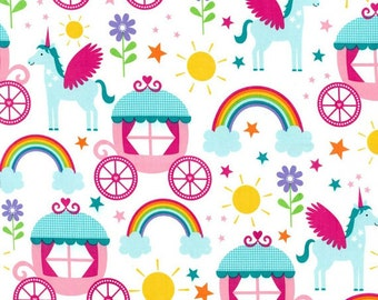 Michael Miller Fabric Rainbows and Unicorns Princess